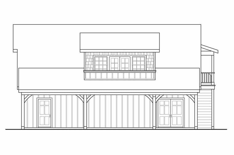 Craftsman, Traditional 2 Car Garage Plan 41246 Picture 2