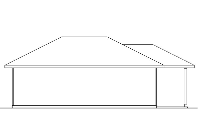 Traditional 4 Car Garage Plan 41247 Rear Elevation