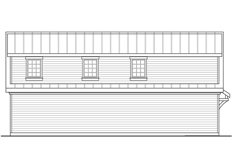 Country, Southern, Traditional 2 Car Garage Plan 41277 Picture 1
