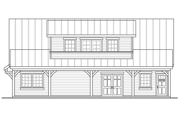 Country, Southern, Traditional 2 Car Garage Plan 41277 Picture 2