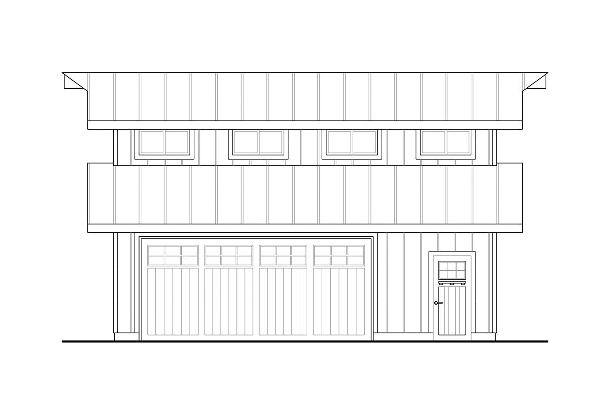Country, Farmhouse, Traditional 2 Car Garage Plan 41364 Picture 2