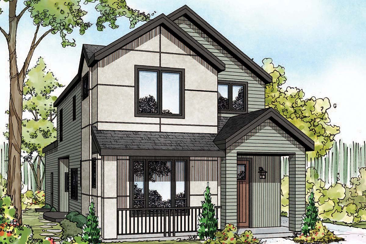 Contemporary, Southwest House Plan 41388 with 3 Beds, 3 Baths, 2 Car Garage Elevation