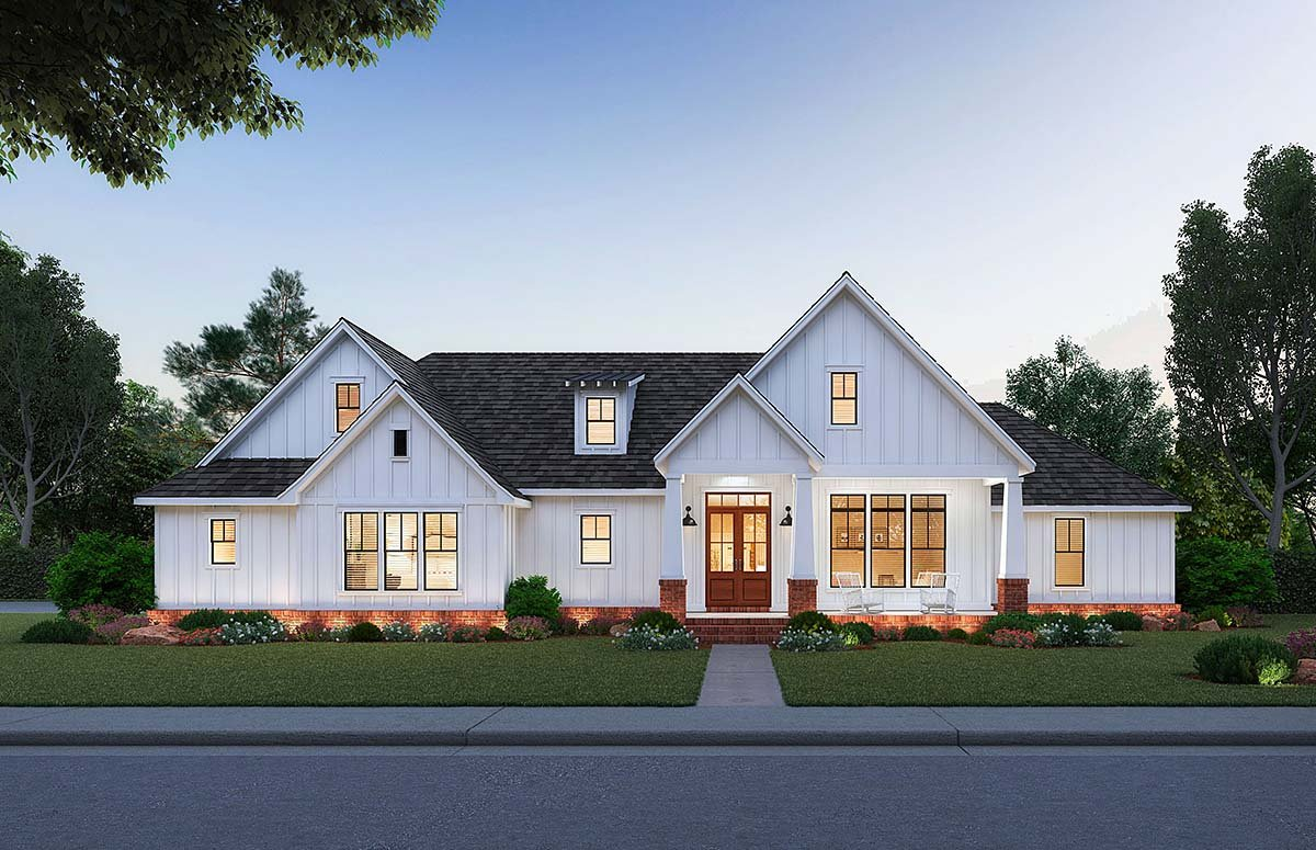 House Plan 41402 - Traditional Style with 1967 Sq Ft, 3 Bed, 2 Bath, 1 Half  Bath