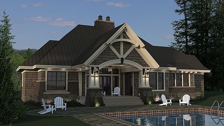 Bungalow, Cottage, Craftsman, Tudor House Plan 42675 with 3 Beds, 3 Baths, 2 Car Garage Picture 5