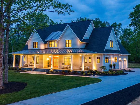 Country, Farmhouse, Traditional House Plan 42698 with 4 Beds, 4 Baths, 3 Car Garage Elevation