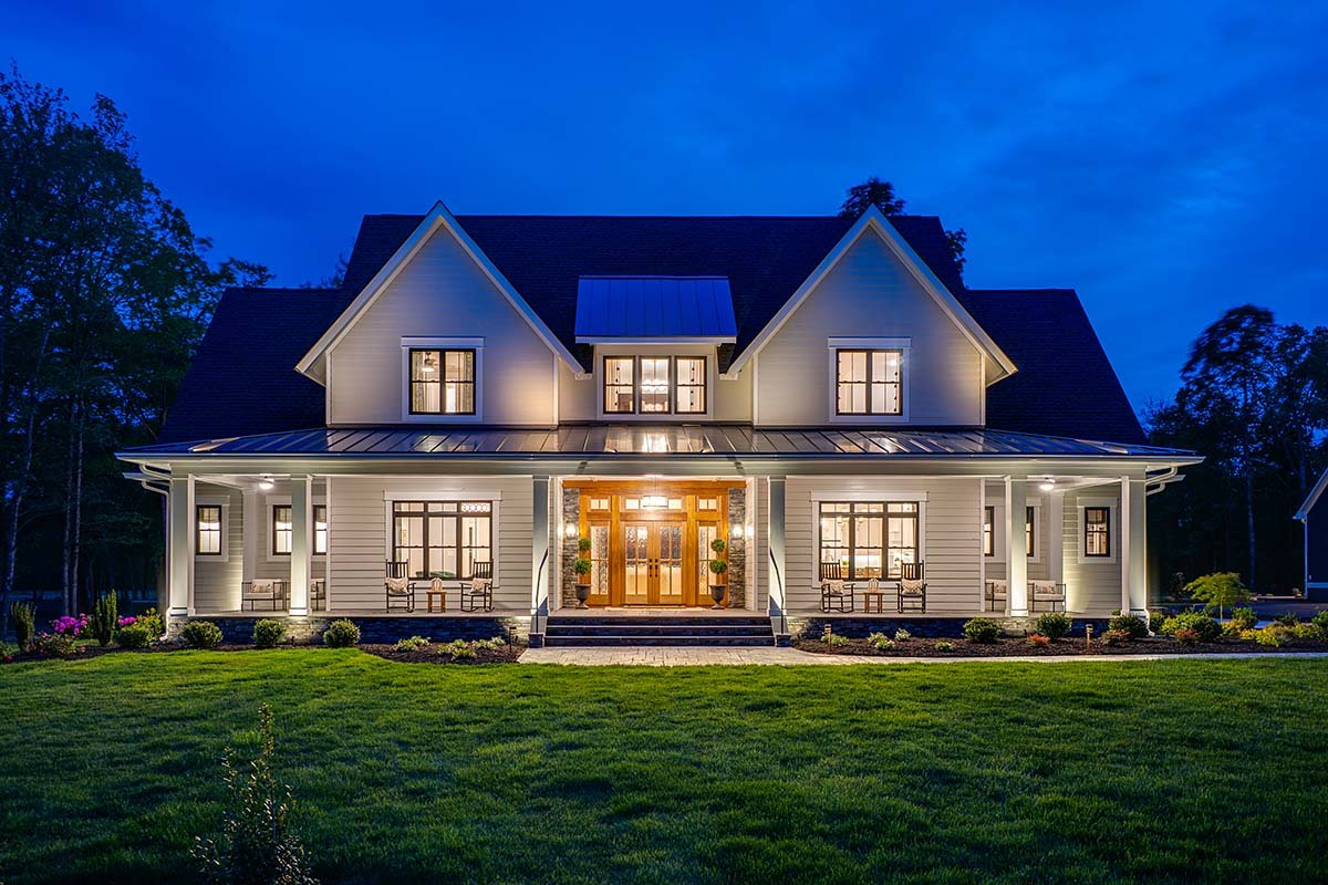 Country, Farmhouse, Traditional House Plan 42698 with 4 Beds, 4 Baths, 3 Car Garage Picture 1