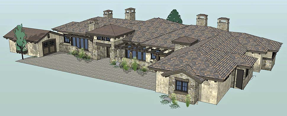 Tuscan Plan with 3574 Sq. Ft., 3 Bedrooms, 4 Bathrooms, 3 Car Garage Picture 2