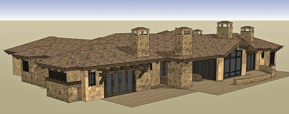 Tuscan Plan with 3574 Sq. Ft., 3 Bedrooms, 4 Bathrooms, 3 Car Garage Picture 3