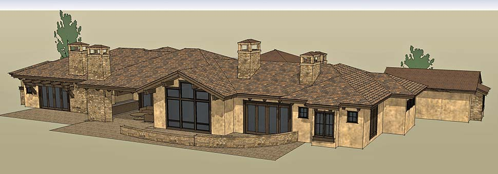 Tuscan Plan with 3574 Sq. Ft., 3 Bedrooms, 4 Bathrooms, 3 Car Garage Picture 5