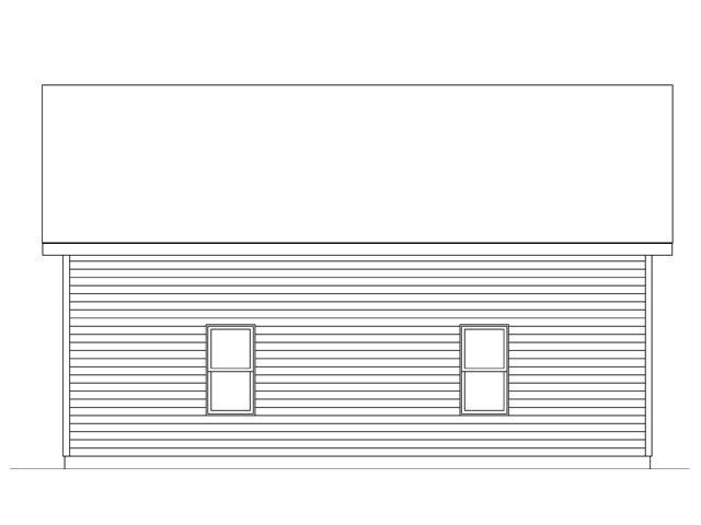 2 Car Garage Plan 45138 Rear Elevation