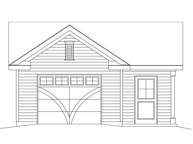 1 Car Garage Plan 45148 Picture 3