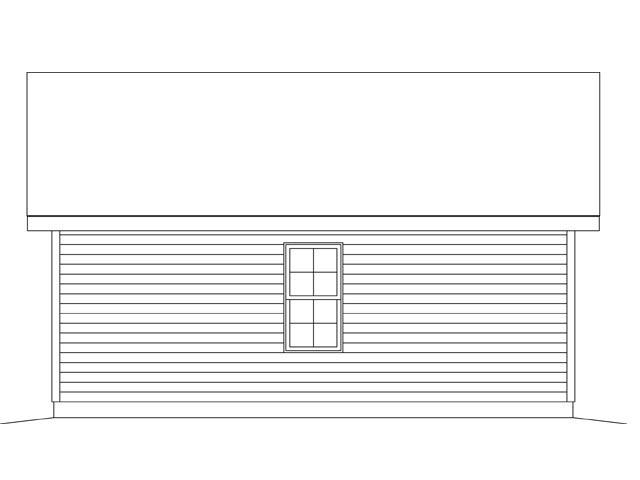 1 Car Garage Plan 45148 Rear Elevation