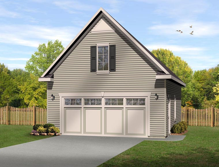 2 Car Garage Plan 45149 Elevation