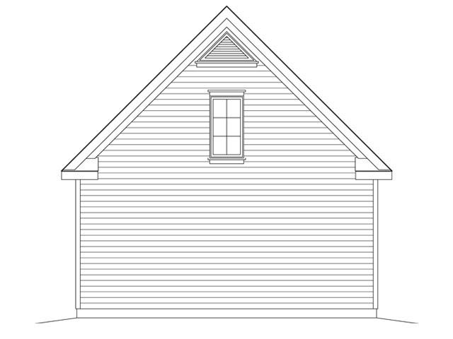 2 Car Garage Plan 45149 Rear Elevation