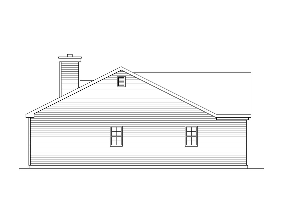 Ranch, Traditional House Plan 45198 with 3 Beds, 3 Baths, 2 Car Garage Picture 2