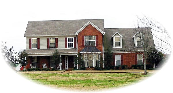 Traditional House Plan 46568 with 4 Beds, 4 Baths, 2 Car Garage Elevation