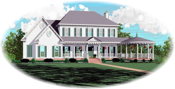 Country House Plan 47047 with 4 Beds, 5 Baths, 2 Car Garage Elevation