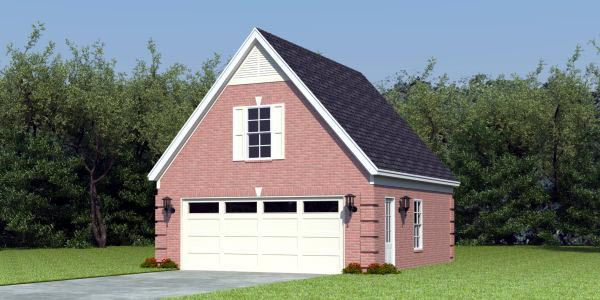 Traditional 2 Car Garage Apartment Plan 47080 Elevation
