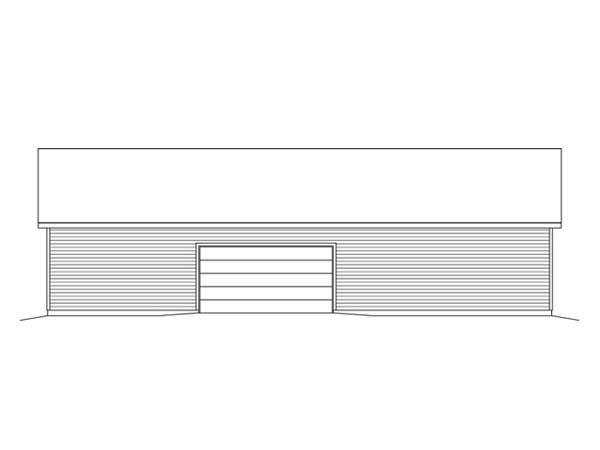 4 Car Garage Plan 49163 Rear Elevation
