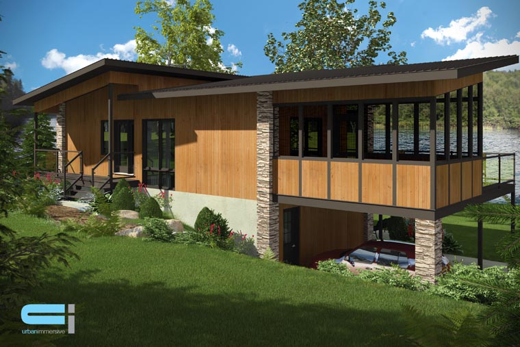 Contemporary, Modern House Plan 50324 with 3 Beds, 2 Baths, 2 Car Garage Picture 3