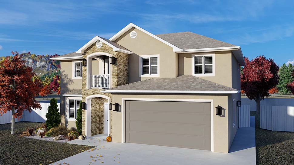 Traditional House Plan 50535 with 4 Beds, 2 Baths, 2 Car Garage Picture 3