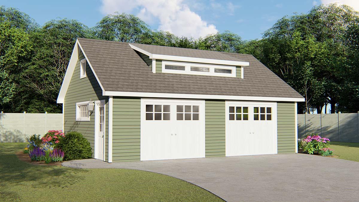 2 Car Garage Plan 50683 Elevation