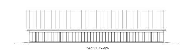 5 Car Garage Plan 51442, RV Storage Rear Elevation
