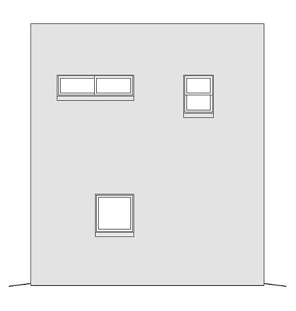 Modern Garage-Living Plan 51488 with 1 Beds, 1 Baths, 1 Car Garage Rear Elevation