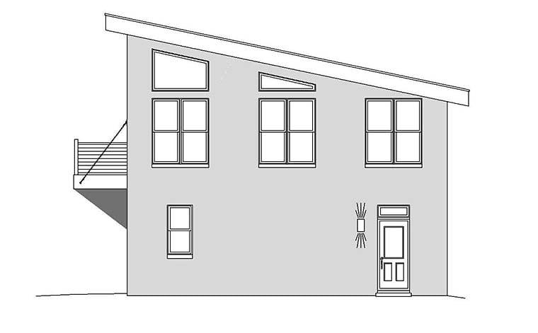 Coastal, Contemporary, Modern Garage-Living Plan 51589 with 1 Beds, 2 Baths, 3 Car Garage Picture 1