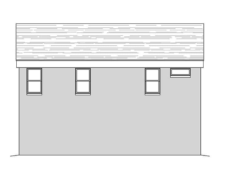 Coastal, Contemporary, Modern Garage-Living Plan 51589 with 1 Beds, 2 Baths, 3 Car Garage Rear Elevation