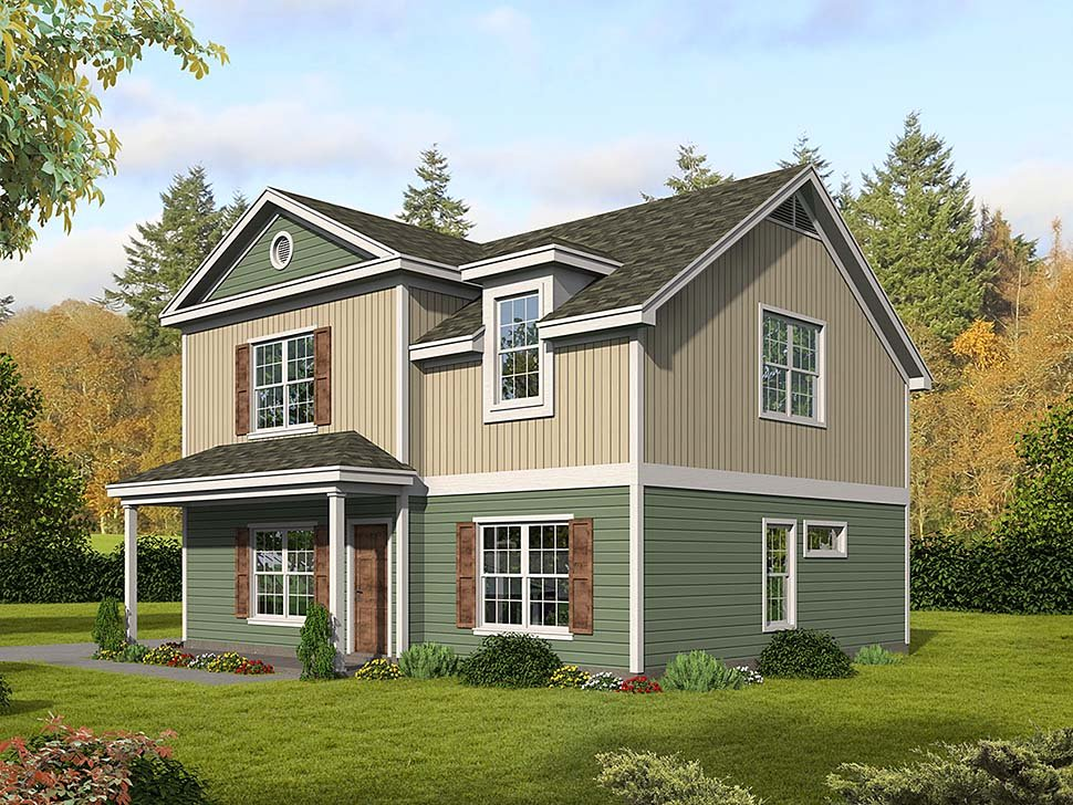 Traditional House Plan 51617 with 3 Beds, 3 Baths Elevation