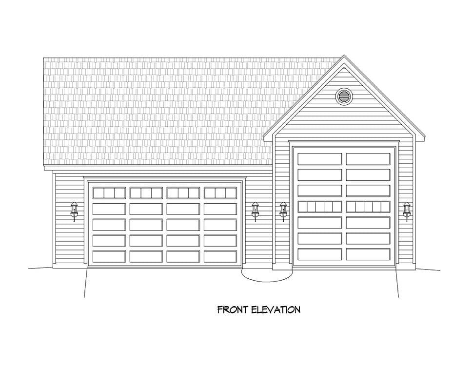 Ranch, Traditional 3 Car Garage Plan 51677, RV Storage Picture 3