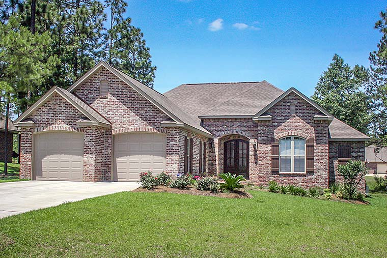 Country, European, French Country, Traditional House Plan 51917 with 3 Beds, 2 Baths, 2 Car Garage Elevation