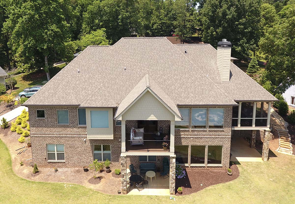 Bungalow, Craftsman, Traditional House Plan 52004 with 4 Beds, 3 Car Garage Rear Elevation
