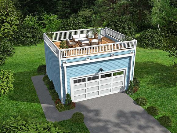 Cape Cod, Saltbox, Traditional 2 Car Garage Plan 52109 Elevation