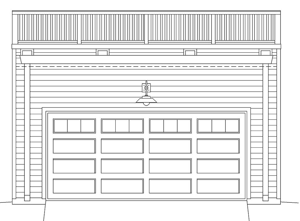 Cape Cod, Saltbox, Traditional 2 Car Garage Plan 52109 Picture 3