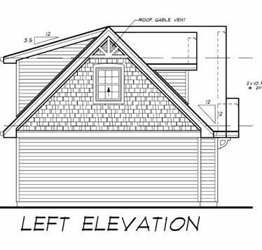 Cape Cod 3 Car Garage Apartment Plan 55547 with 1 Beds, 1 Baths Picture 1