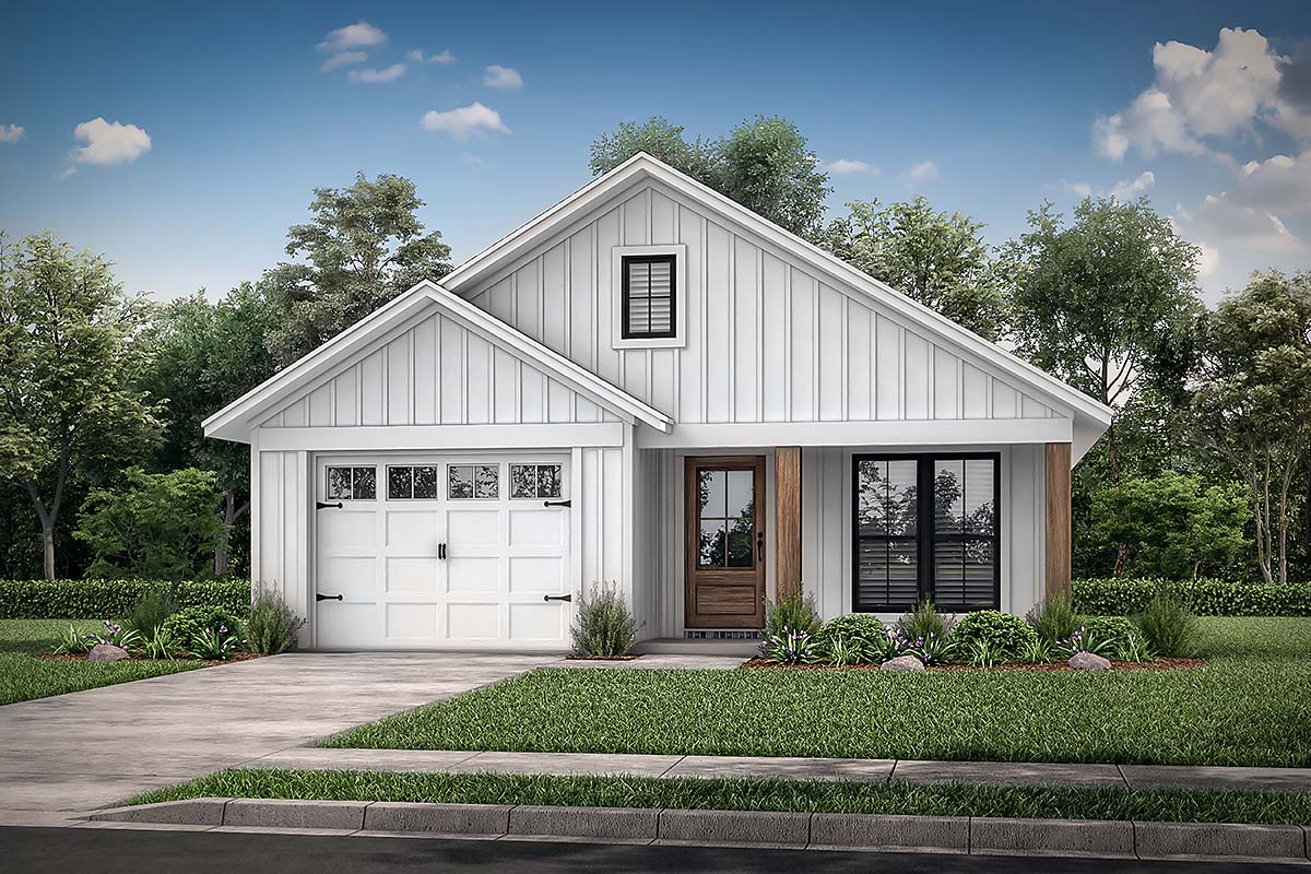 House Plan 56702 - Traditional Style with 1292 Sq Ft, 3 Bed, 2 Bath