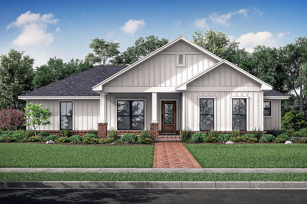Country, Craftsman, Farmhouse, Traditional House Plan 56708 with 3 Beds, 2 Baths, 2 Car Garage Elevation