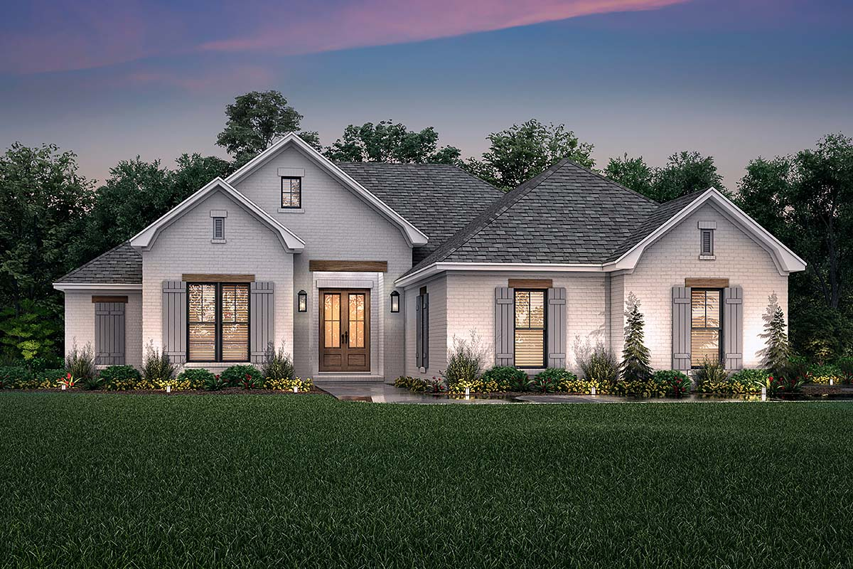 House Plan 56709 Traditional Style With 1817 Sq Ft 3 Bed 2 Bath