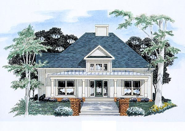 Traditional House Plan 58166 with 3 Beds, 2.5 Baths, 2 Car Garage Elevation