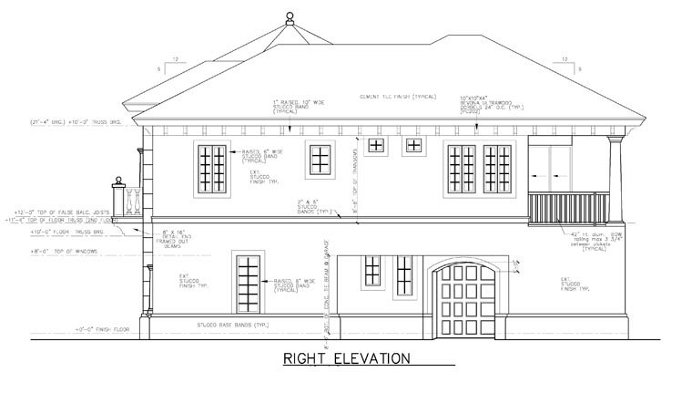 Florida House Plan 58970 with 3 Beds, 4 Baths, 1 Car Garage Picture 1