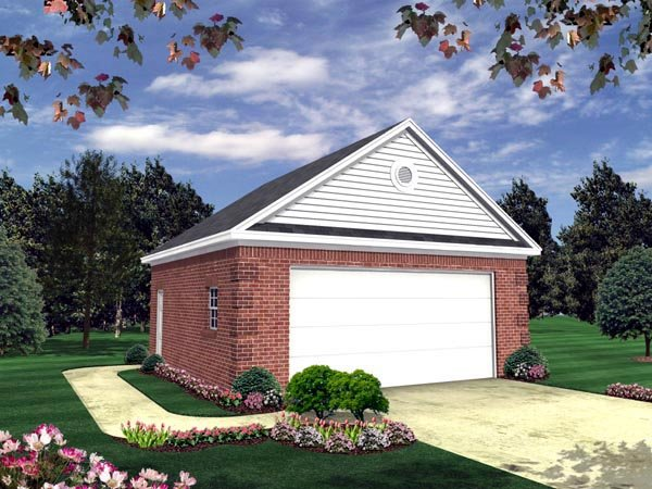 Country, Traditional 2 Car Garage Plan 59119 Elevation