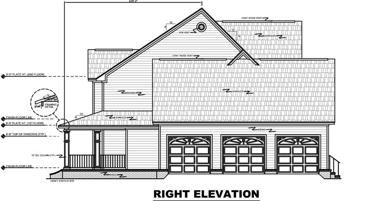 Country, Farmhouse, Traditional House Plan 59172 with 4 Beds, 4 Baths, 3 Car Garage Picture 2