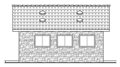 Country 1 Car Garage Plan 59440 Picture 2