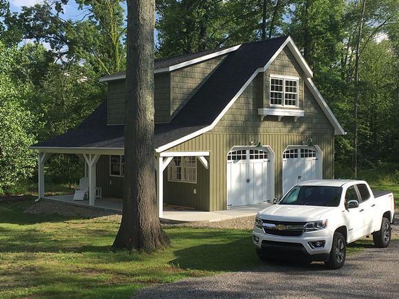 Country, Craftsman, Farmhouse 2 Car Garage Plan 59479 Elevation