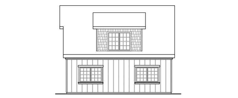 Country, Craftsman, Farmhouse 2 Car Garage Plan 59479 Picture 3