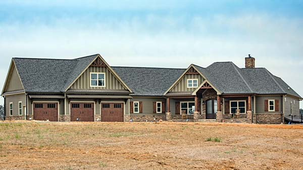 Cottage, Country, Craftsman House Plan 60028 with 4 Beds, 4 Baths, 3 Car Garage Picture 4
