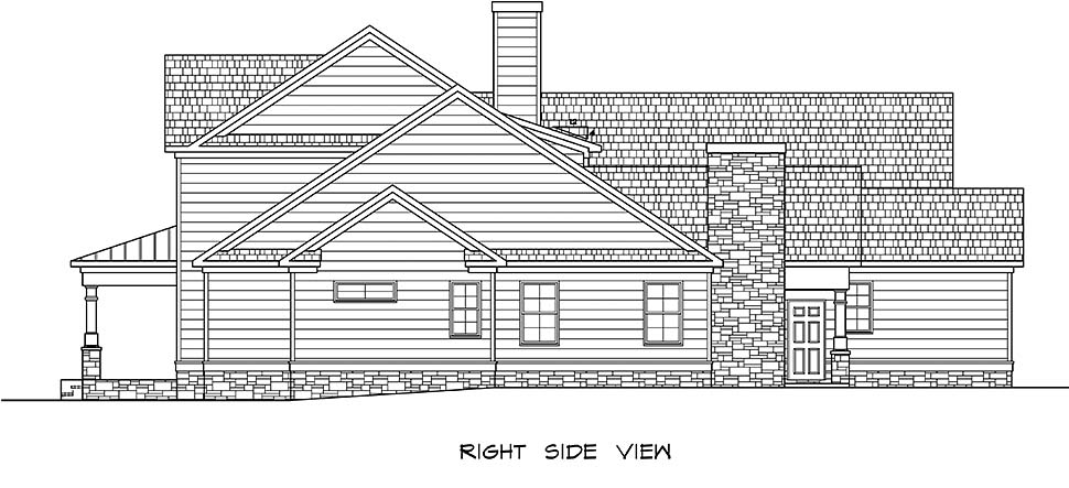 Craftsman, Traditional House Plan 60069 with 5 Beds, 5 Baths, 3 Car Garage Picture 1