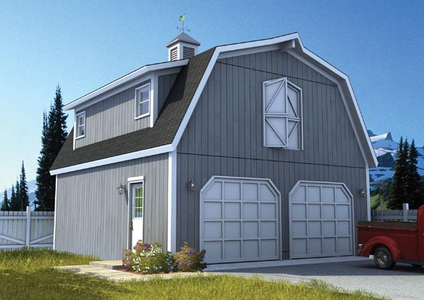 Country, Farmhouse 2 Car Garage Plan 6007 Elevation